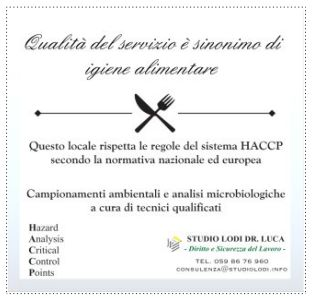 immagine: Vetrofania HACCP